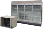 4 Endless Glass Display Cooler, AA Store Fixtures