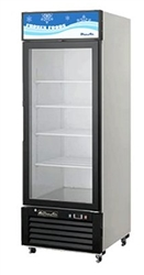 Blue Air, 23 cubic feet, 1 Door Glass Display Freezer, New, Swinging Door