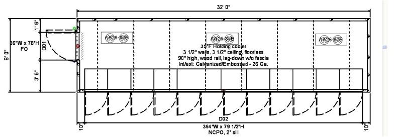 12 Glass Door Display Cooler