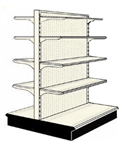 Reconditoned 4' gondola run with base and 8 adjustable shelves