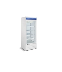 Norpole, 13 CuFt , 1 Door Glass Display Freezer, New, Swinging Door, self contained, freezers, coolers, white, discounted price, castors, wheels, refrigerator, commercial, gas station, convenience store, grocery, liquor