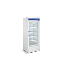 Norpole, 23 CuFt , 1 Door Glass Display Freezer, New, Swinging Door, self contained, freezers, coolers, white, black, discounted price, castors, wheels, refrigerator, commercial, gas station, convenience store, grocery, liquor