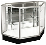 Inside Corner Extra Glass Display Case Showcases