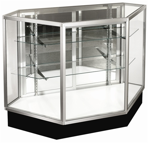 Inside Corner Extra Vision Display Case Showcases Aa