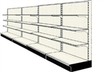 Used 16' wall run with base and 12 adjustable shelves