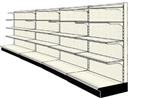 Used 16' wall run with base and 16 adjustable shelves
