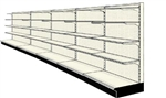 Used 20' wall run with base and 20 adjustable shelves