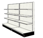 Used 8' wall run with base and 6 adjustable shelves