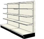Used 8' wall run with base and 8 adjustable shelves