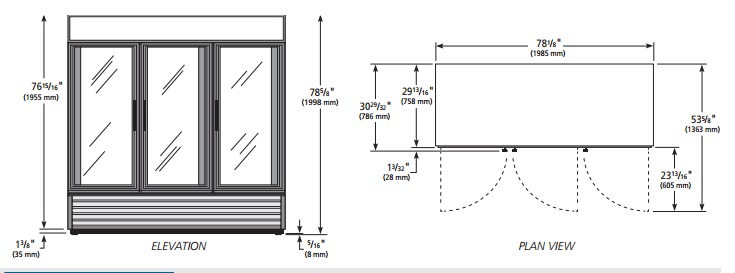 Glass Door Self Contained Reach In Reach In Display