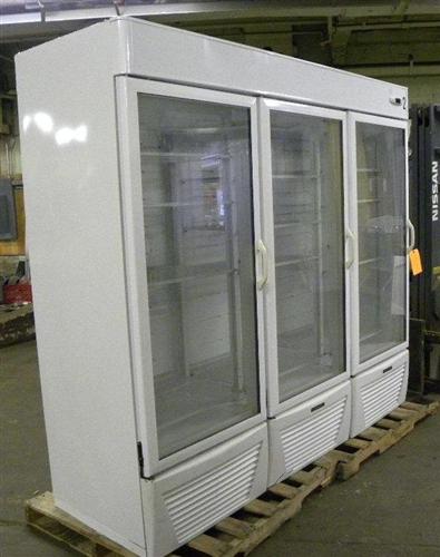 Used 3 Door Hussman Cooler Aa Store Fixtures Used
