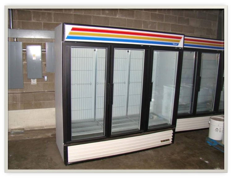 3 Door True Freezer Aa Store Fixtures Used Coolers And