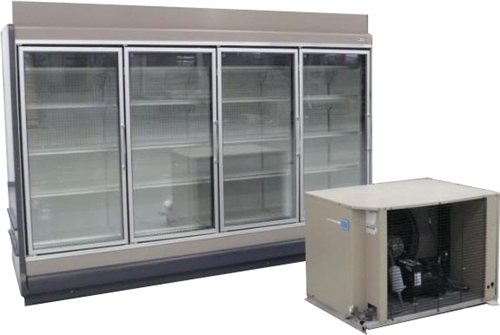 4 Door Endless Glass Display Freezer, AA Store Fixtures