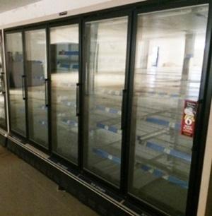 5 Door Master Bilt Remote Freezer Used Cooler Used