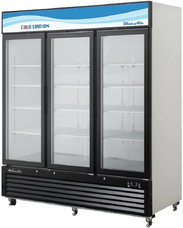 3 Door Coolers Refrigerator Display Coolers Pop Beverages