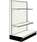 Used 3' endcap unit with 2 shelves