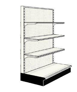 Used 3' endcap unit with 3 shelves