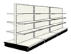 Used 12' gondola run with base and 18 adjustable shelves