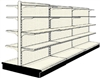 Used 12' gondola run with base and 24 adjustable shelves