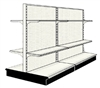 Used 8' gondola run with base and 8 adjustable shelves
