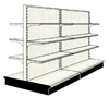 Used 8' gondola run with base and 12 adjustable shelves