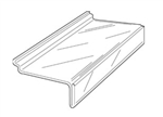"100- 4"" x 10"" Styrene Sign-slot Shelves for Slatwall"