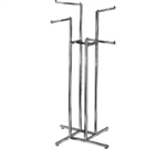 K10 - 4 Straight 4 Way Clothing Rack, AA Store Fixtures