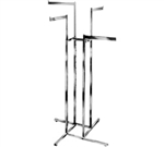 K13 - 4 Straight 4 Way Clothing Rack, AA Store Fixtures