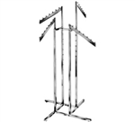 K14 - 4 Slant Arm 4 Way Clothing Racks, AA Store Fixtures