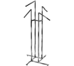 K15 - 4 Slant Blade 4 Way Clothing Racks, AA Store Fixtures