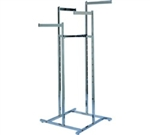 K17 - Space Saver Straight Arm 4 Way Clothing Racks, AA Store Fixtures