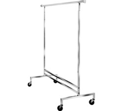 K43 - Single Hangrail Rolling Rack, AA Store Fixtures