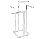 K80_main - High Capacity Straight Arm 4 Way Clothing Racks, AA Store Fixtures