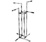 K84 - Extend. Arm 4 Way Clothing Racks, AA Store Fixtures