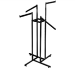 K86_main - 2 Straight 2 Slant Arm 4 Way Clothing Racks, AA Store Fixtures