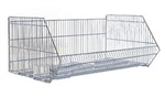 OF WSB - White Wire Stacking Baskets, AA Store Fixtures