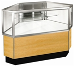 Outside Corner Half Glass Display Case Showcases