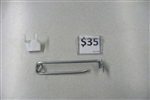 "Medium Duty 4"" x .187"" Triscan Brand New Peg Hook with Label Holder Chrome"