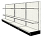 Used 12' wall run with base and 6 adjustable shelves