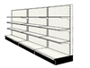 Used 12' wall run with base and 9 adjustable shelves