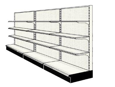 Reconditioned 12' wall run with base and 9 adjustable shelves