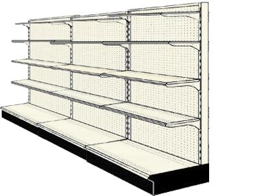 Reconditioned 12' wall run with base and 12 adjustable shelves