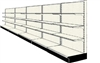 Used 20' wall run with base and 15 adjustable shelves