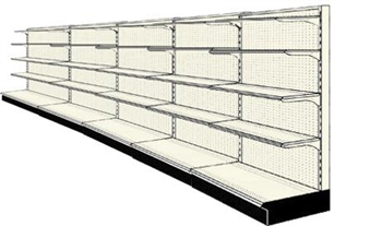 Reconditioned 20' wall run with base and 20 adjustable shelves