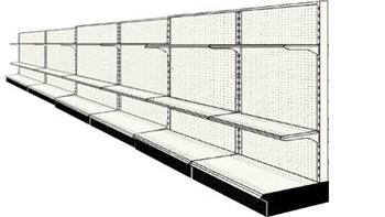 Used 24' wall run with base and 12 adjustable shelves