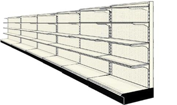 Reconditioned 24' wall run with base and 24 adjustable shelves