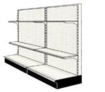Used 8' wall run with base and 4 adjustable shelves