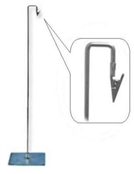 WSAC1_main - Metal Sign Holder W/ Down Position Clip, AA Store Fixtures